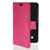 MOONCASE Slim Leather Side Flip Wallet Card Slot Pouch Stand Back чехол для Nokia Lumia 530 Hot pink