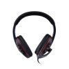 стильный наушники W / микрофон для PS3 / PS3 Slim / PS3 cech4000 - черный + красного usb wired headphones w microphone for ps3 ps3 slim ps3 cech4000 green black