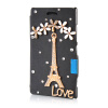 MOONCASE Luxury Flower Crystal Leather Side Flip Wallet Pouch ЧЕХОЛ ДЛЯ Nokia Lumia 925