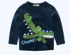 2018 мальчиков весна и осень с длинными рукавами футболка детей футболка мультфильм печатных снизу футболка catimini футболка