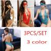 2PC Bikini Lingerie Sexy Lace Babydoll Эротическое нижнее белье прозрачное Открытое бюстгальтерное ночное белье