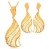 дубай, позолоченные украшения, установить новые модные украшения 18k позолоченные полых фан - формы для женщин серьги, бусы amwaj rotana jumeirah beach residence 5 дубай