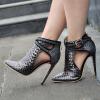 Модные туфли на высоком каблуке Женщины Обувь для вечеринок Свадебная обувь Женщины плюс размер пряжки xd151