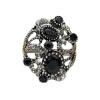 Поощрение Турецкие женщины Vintage Ring Смола Finger ювелирные изделия Античный цвет Этнические полые цветы Свадебные обручальные