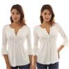 Женская Повседневная Рубашка с V-образным Воротником
