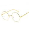 2018 Продажа Rushed Solid Copper Unisex Gafas Eyedlasses Tidal Flat Light Mirror Metal Круглые очки для женщин. herobiker sintered copper metal front