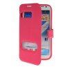 MOONCASE View Window Leather Side Flip Pouch Hard board Shell Back чехол для Samsung Galaxy Note 2 N7100 Hot pink mooncase soft silicone gel side flip pouch hard shell back чехол для samsung galaxy s6 white
