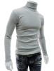Мужская Зимняя Тонкий теплый пуловер Fit Водолазка вязать Top Coat Трикотаж Свитер