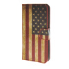 MOONCASE U.S American Flag Leather Side Flip Wallet Card Slot Stand Pouch чехол для LG Leon 4G LTE / C40 a08 luxury stand flip
