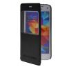 MOONCASE Окно просмотра Кожа Флип сторона Чехол Подставка Оболочка задняя крышка Крышка для Samsung Galaxy S5 Mini Черный клип кейс ibox fresh для samsung galaxy s5 mini черный