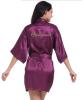 Фото Короткая невеста Robe Bridemaid Silk Satin Kimono dressing Gown Sleepwear Халат