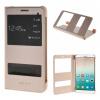 MOONCASE Huawei Honor 7i ЧЕХОЛДЛЯ Premium PU Leather Pouch Flip Gold аксессуар чехол huawei honor 7 aksberry gold