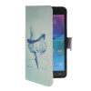 MOONCASE Pattern Style Leather Side Flip Wallet Card Slot Pouch Stand Shell Back ЧЕХОЛДЛЯ Samsung Galaxy Note 4 N9100 hat prince protective case w call display stand for samsung galaxy note 4 n9100 white