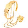 U7 Женщины ведомого Браслет 2015 Оптовая продажа ювелирных изделий 18k позолоченный Недвижимость Круглый Золотой Античная монета браслет для женщин