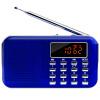 Счастливый сопровождая L-218 портативный радиоприемник карты мини MP3-плеер карты стереосистема сабвуфер со светодиодной подсветкой Sapphire