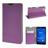 MOONCASE Sony Xperia Z3 Compact ( Z3 Mini ) ЧЕХОЛ ДЛЯ Flip Leather Wallet Card Holder Bracket Back Pouch Purple sony xperia m в спб purple