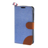 MOONCASE Alcatel One Touch POP C5 , Leather Flip Card Holder Pouch Stand Back ЧЕХОЛ ДЛЯ Alcatel One Touch POP C5 Blue alcatel one touch pop 3 5025d silver