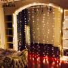 JULELYS 3 x 2M 192 Лампы Светодиодные занавесы Gerlyanda Рождественская гирлянда Фея Светодиодные огни Декорация Праздничный день рождения Декор Декор