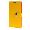 MOONCASE чехол для Sony Xperia T3 Flip Leather Wallet Card Slot Bracket Back Cover Yellow mooncase чехол для sony xperia t3 flip leather wallet card slot bracket back cover yellow