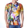 Модные мужские O-образные вырезы Lovely Forest Print Pullover T-Shirts толстовка кенгуру fallen brooklyn pullover hood forest green