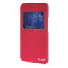 Фото MOONCASE Huawei Honor 6 Plus чехол Тонкий окна Посмотреть Design Флип кожаный браслет Вернуться чехол Чехол Ярко-розовый чехол