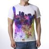 Мужская круглая шея Топы Геометрия Красочная печать Пуловер футболки