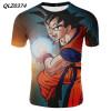 Dragon Ball аниме футболка с коротким рукавом повседневная футболка летняя футболка
