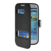 MOONCASE View Window Leather Side Flip Pouch Stand Shell Back ЧЕХОЛ ДЛЯ Samsung Galaxy S3 I9300 Black mooncase soft silicone gel side flip pouch hard shell back чехол для samsung galaxy s6 black