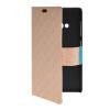 MOONCASE Slim Leather Side Flip Wallet Card Slot Pouch with Kickstand Shell Back чехол для Nokia Lumia 535 Beige синий slim robot armor kickstand ударопрочный жесткий корпус из прочной резины для vivo x9plus
