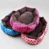 mymei симпатичный щенок кпп мягкой фланелевой собаку теплой постели дом плюшевой гнездо коврик фон