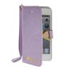 MOONCASE Стильный Флип кожаный бумажник держателя карты Чехол отойти чехол для Apple IPhone 5 / 5S фиолетовый чехол