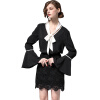 BURDULLY Пуловер Блузка с длинными рукавами Женщины 2018 Летняя Элегантная черная рабочая блузка Офисные женские рубашки и топы roupas feminina