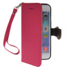 MOONCASE Litch Skin Leather Side Flip Wallet Slot Pouch Stand Shell Back ЧЕХОЛДЛЯ Apple iPhone 6 ( 4.7 inch ) Hot pink jeans cloth card holder stand pu leather shell for iphone 6s 6 4 7 inch pink