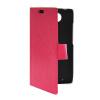 MOONCASE Slim Leather Side Flip Card Slot Pouch Stand Shell Back ЧЕХОЛДЛЯ Motorola Moto Droid Turbo XT1254 Hot pink