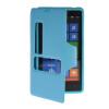 MOONCASE View Window Leather Side Flip Pouch Hard board Shell Back чехол для Nokia Lumia 820 Blue