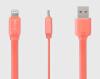 Кабель Ainy FA-032D с двусторонним USB-коннектором для Apple iPad/iPhone/iPod коралловый appleme291 оригинального молния usb iphone ipad ipod кабель кабель 0 5 м
