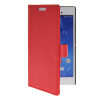 MOONCASE Slim Leather Flip Wallet Card Pouch with Kickstand Shell Back ЧЕХОЛДЛЯ Sony Xperia T3 Red mooncase чехол для sony xperia m4 aqua wallet card slot with kickstand flip leather back hot pink