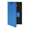 MOONCASE Slim Leather Flip Wallet Card Pouch with Kickstand Shell Back ЧЕХОЛ ДЛЯ Nokia X2 Blue