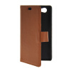 MOONCASE Slim Leather Flip Wallet Card Pouch with Kickstand Shell Back ЧЕХОЛДЛЯ Sony Xperia A2 Brown mooncase чехол для sony xperia m4 aqua wallet card slot with kickstand flip leather back hot pink