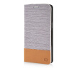 MOONCASE Canvas Design Leather Side Flip Pouch Stand Shell Back ЧЕХОЛДЛЯ Samsung Galaxy Grand Prime G5308W Light Brown mooncase samsung galaxy s6 edge plus чехолдля hard plastic design flip pouch brown