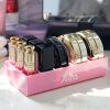 AILA 2018 Новый дизайн Акриловый мини-макияж Организатор 9 Lattice Lipstick Лак для ногтей Puff Cake Box для дома лаки для ногтей orly мини лак для ногтей 678 sheer nude