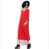 Lovaru ™ Осень в Европе и большого размера свободной женщины твердое рукав летучая мышь колен платье платье была тонкая Осень жира М самара толстовку большого размера