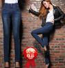 Lovaru ™2015 плюс толстый бархат талии джинсы талии жира мм большой ярдов женские брюки карандаш брюки ноги теплые