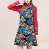 Lovaru ™Новый +2015 моды национального ветра осенние дамы хлопок платье Cheongsam воротник платье жилет для печати