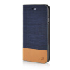 MOONCASE Canvas Design Leather Side Flip Wallet Pouch Stand Shell Back ЧЕХОЛДЛЯ Apple iPhone 6 ( 4.7 inch ) Dark Blue leather wallet shell for iphone 7 4 7 inch windbell