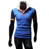 zogaa мужской рубашки поло контраст цвета моды тонкая вышивка