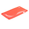 MOONCASE S-Line Soft Flexible Silicone Gel TPU Skin Shell Back чехол для Sony Xperia T3 D5103 D5106 Red sony xperia t3