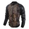 Zogaa осенью мужской пиджак 3D - печати, пу - кожа случайным