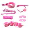 7шт розовый мех бондаж Фетиш SM комплект хлыст веревочки с завязанными глазами наручники кляп гей секс игрушки-470010S shirley шляпка 7 букв