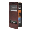 MOONCASE View Window Leather Side Flip Pouch Stand Shell Back ЧЕХОЛДЛЯ HTC One M7 Red luxury stand flip